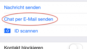 Threema Chat per E-Mail senden