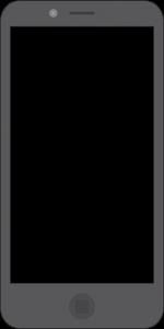 Flat Mobile Mockup ohne Bemaßung