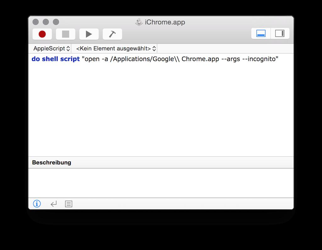 Apple Skript-Editor