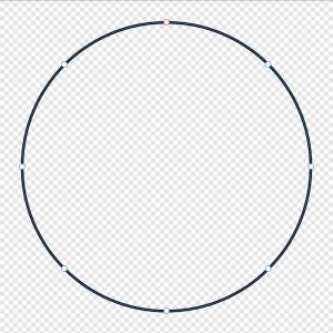 Ein Kreis mit 8 Ankerpunkten