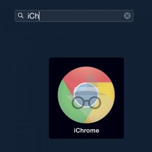 iChrome im Launchpad öffnen
