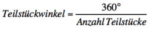 Formel für Teilkreise